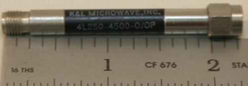 K&L Microwave Filter 4L250-4500-0/0P