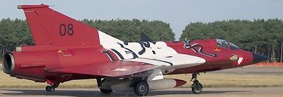J-35 Draken Austria Air Force Saab Airplane Mahogany Wood Model Large New for sale  Shipping to Canada
