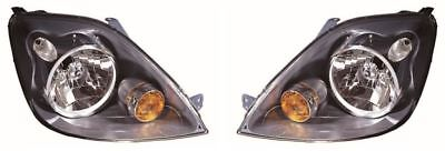 Ford Fiesta MK6 ST 2005-2008 Grey Front Headlight Headlamp Pair Left & Right