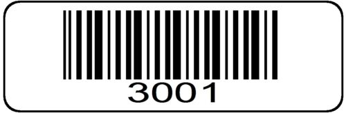 3001 > 4000 Serial Barcode Sequential Sticker Consecutive Number Label Roll # 4