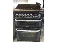 Black Cannon 60cm free standing electric cooker, 4 months warranty