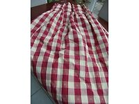 Red check Gingham curtains - 1 pair