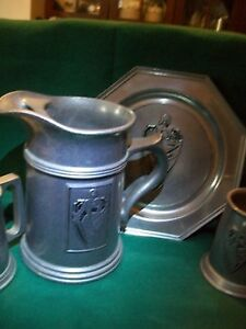 Bar set - jug, tray 2 steins