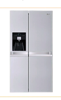 LG LINEAR COMPRESSOR SIDE BY SIDE FRIDGE FREEZER WITH ICE MAKER