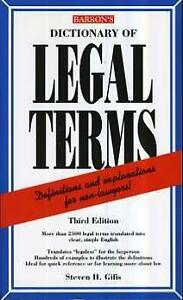 Barron's Dictionary of legal terms Paperback Excellent condition