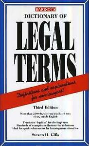 Stephen Sifis - Barron's Dictionary of Legal Terms