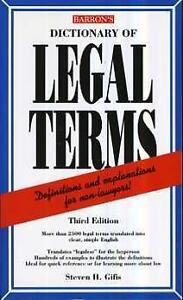 Barron's Dictionary of legal terms paperback book