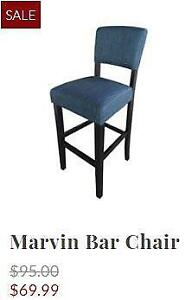 Fabric and Wood Bar Chairs
