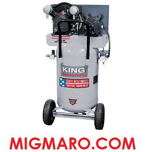 KING INDUSTRIAL KC-3124V1 COMPRESSEUR 5.5HP 24 GALLONS NEUF/NEW!