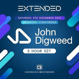 4 x tickets to John Digweed @ Concorde 2 in Brighton on Sat 4th November