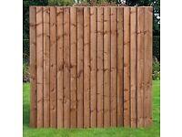 Fence Panel Feather Edge 6x4 - 5 Panels
