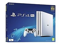 PS4 Playstation Pro White 1Tb 2 games GTA V