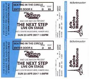 2 X Tickets for The next step Melbourne concert (1pm) Beaconsfield Cardinia Area Preview