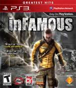 PS3 - INFAMOUS  - Play Station 3 game for sale. West Island Greater Montréal image 1
