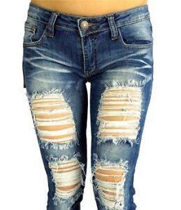 Women S Ripped Skinny Jeans