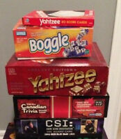 4 Board Games - good condition, all pieces included