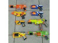 NERF gun bundle x8 lot guns