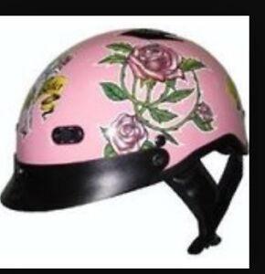 Lady Harley motorcycle helmet. White colour.