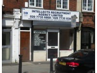 Commercial shop/office to let on Camberwell New Road SE5 near Oval tube station