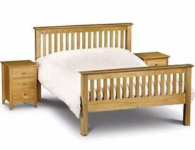Julian Bowen Double Pine Bed