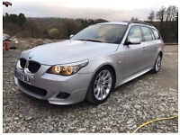 2007 57 BMW 520D LCI TOURING SILVER 10200 MILES SERVICE HISTORY