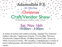 Adamsdale P.S. Christmas Craft Show