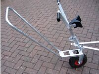 Trailer jockey wheel with handle (for sailing dinghy trailer)