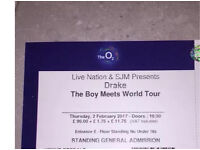 The Boy Meets World Tour - Drake Standing Physical Tickets