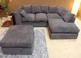 BRAND NEW DYLAN JIMBO CORD CORNER OR 3+2 SEATER SOFA SET AVAILABLE IN STOCK ORDER NOW