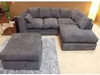 BRAND NEW DYLAN JUMBO CORD CORNER OR 3+2 SEATER SOFA SET AVAILABEL IN STOCK