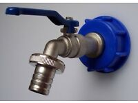 "IBC adapter with ¾"" cap lever tap valve for rain water tank TOP - SELLER"