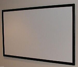 """120"""" UHD projector screen for home theater, fixed frame, white"""