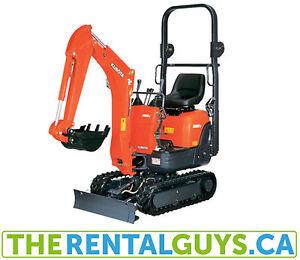 Oakville Excavator Rentals Free Delivery & Pickup