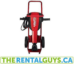 TE3000 CONCRETE BREAKER C/W CART&CHISELS FOR RENT FREE DELIVERY