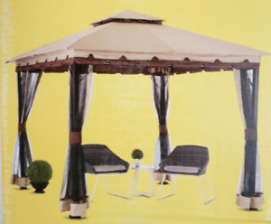 NEW IN BOX! - Gazebo 10x10' w/ mosquito net. Delivery available!