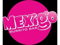 Front of house team member needed at Mexigo Holdenhurst Road Bournemouth. Come and join our team!!