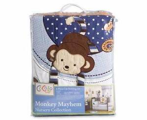 Brand New Cacalo Monkey Mayhem 6pc Cot Set and Rug Shellharbour Shellharbour Area Preview