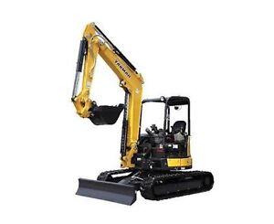 5 tonne Yanmar zero swing excavator DRY HIRE