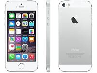 iPhone 5S in Silver. Unlocked. Cash or possible part ex.