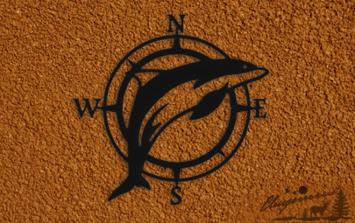 DOLPHIN COMPASS ROSE WALL HANGING