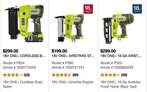 Brad Nailers, Finish Nailer and Stapler SUPER Package Deal!