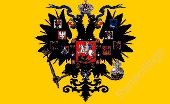 RUSSIA IMPERIAL CZAR FLAG - RUSSIAN NATIONAL FLAGS - Hand, 3x2, 5x3 Feet