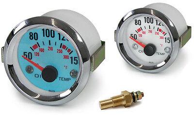 Öltemperatur Anzeige Zusatz Instrument 52mm Plasma blau