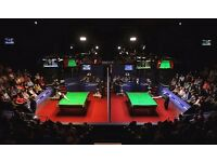 World Snooker Championship Tickets 2018 (Quarter Final and Semi Final)
