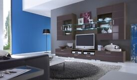 Entertainment unit with Led .Gloss