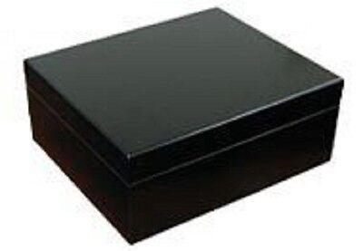 Black Finish Humidor - High Gloss Jet Black Finish 50 Count Cigar Humidor = 50 Black