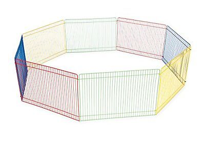 Small Pet Playpen Outdoor Animal Cage Dog Puppy Play Yard Crate Multi Color