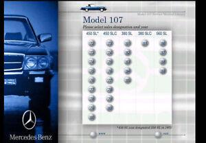 MERCEDES 107 FACTORY SERVICE & REPAIR MANUAL 380SL 380SLC 450SL 450SLC 560SL