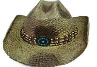 Wille Hat. - Hand painted marrocan straw hat.