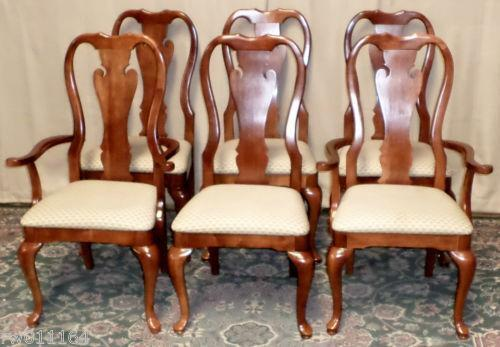 Cherry Queen Anne Dining Chairs EBay
